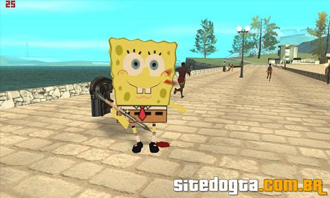 Mod do Bob Esponja para GTA San Andreas